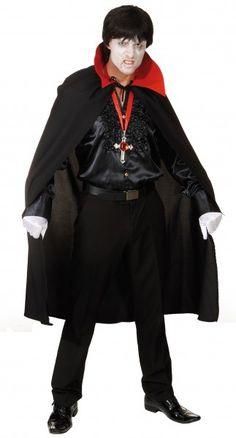Dracula-Umhang: schönes Vampir-Kostüm Halloween + Hexen + Teufel Vampire Verkleidungen