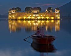Floating Palace, Jal Mahal in Jaipur India by limpid lizard design - david horsman.