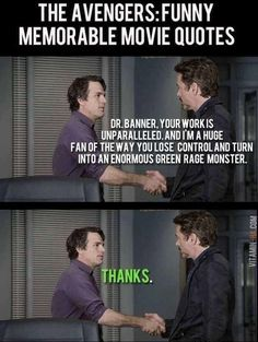 Avengers Humor, Avengers Quotes, Marvel Quotes, Avengers Movies, Marvel Actors, Marvel Movies, Hulk Memes, Funny Marvel Memes, Dc Memes