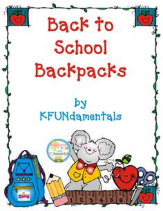 """Use this set on Day #1, all week long with small groups, and all month long as a center! Start the year with this FUN Back To School """"Craftivity"""" that incorporates math skills, oral language, and problem solving as your students """"buy"""" school supplies to place in their paper backpacks."""