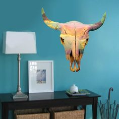 Sunset Skull Wall Decal