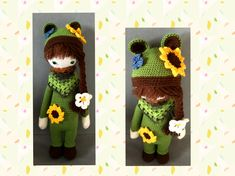 sunflower mod made by Martina N. / based on a lalylala crochet pattern