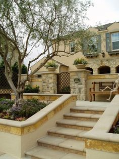 Exterior Photos Stucco Retaining Wall Design Ideas, Pictures, Remodel, and Decor - page 3
