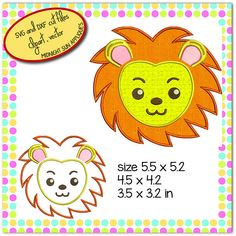 Lion head appliqueembroidery designdesigns embroidery for Midnight Sun, Embroidery Designs, Lion, Trending Outfits, Unique Jewelry, Handmade Gifts, Etsy, Vintage, Leo