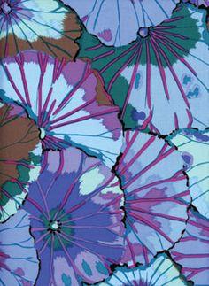 Westminster Kaffe Fassett Lotus Leaves Blue Textile