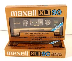 Maxell Cassette XLII 90 Extra Fine Epitaxia 2 Factory Sealed Audio Tapes Japan   #Maxell