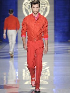 Francisco Lachowski | Versace  Would love to wear something like that, OMG love the orange :-)