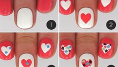 Step By Step Heart Nail Art Designs for Valentine's Day