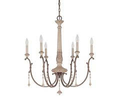 View the Capital Lighting 4096 Chateau 6 Light 1 Tier Candle Style Chandelier at Build.com.