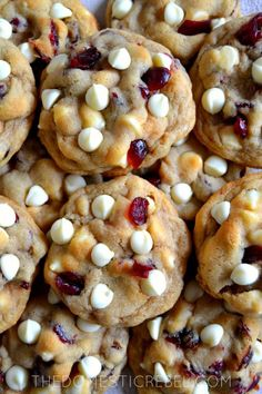 Soft and Chewy Cranberry White Chocolate Chip Cookies