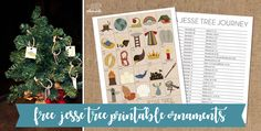 Free Printable Jesse Tree Ornaments | Whimsicle Design Studio