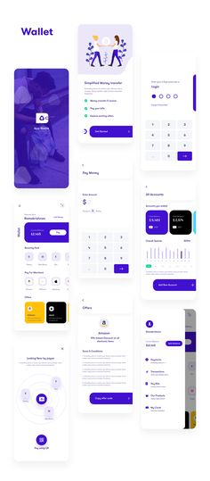 Multipurpose finance app ui kit App Ui Kit - Finance on Behance<br> Mobile App Design, Mobile App Ui, App Ui Design, Interface Design, Flat Design, Design Design, Interface App, Site Design, Graphic Design