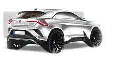 BMW Xı4 - full electric compact crossover conceptquick photoshop rendering
