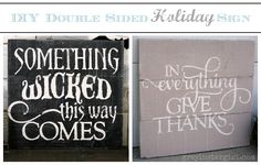 DIY double sided wood holiday sign by Grey Luster Girl