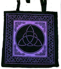 """Triquetra Tote Black/Purple 18"""""""
