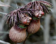 Pixie Zwillinge, handgemachte Dekoration. Wichtel