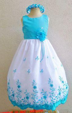 Flower Girl Dresses - Turquoise Embroidery Dress (FD072) - Wedding Easter Junior Bridesmaid - For Children Toddler Kids Teen Girls by NollaCollection on Etsy https://www.etsy.com/listing/157653353/flower-girl-dresses-turquoise-embroidery