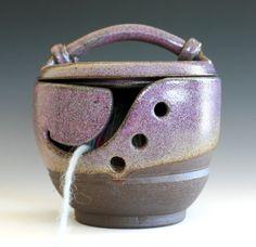 KittyProof Yarn Bowl  handmade ceramic yarn bowl In by ocpottery, $55.00