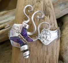 Mystic+1903++Spoon+Bracelet++With+Shell+Butterfly+by+wearetheedge