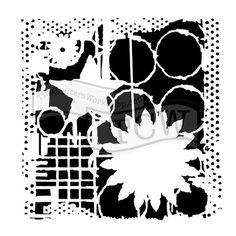 Rebekah Meier 12x12 Stencil Star and Flower
