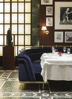 Da Mario Kalamis by Autoban, booth, restaurant, royal blue