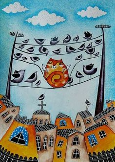 Petya Konstantinova. The yellow bird