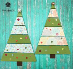 Make pretty Christmas decor from rustic pallet trees.