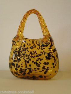 Murano Leopard Print Glass Purse