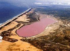 Retba - a pink lake at Senegal