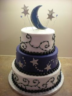 MOON/STAR CAKE! Happy Birthday Mere! Love you! more to see!