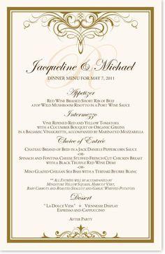 Flirty Eyes Top & Bottom Contemporary and Classic Menus Wedding Menu Cards, Wedding Dinner, Dinner Menu, Wedding Reception, Dinner Table, Dinner Recipes, Vintage Monogram, 40th Anniversary, Monogram Wedding