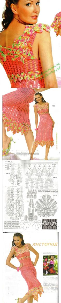 Revista Moa 513 cute dress too much color for me. Would be awesome in a gray, black, and white mix though
