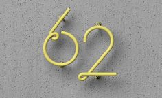 WIRE NUMBER by Kyuhyung Cho & Erik Olovsson is a numeral system for outdoor and indoor entrances. Inspired by the beauty of customized door numbers on old streets and downtown neon lights, WIRE NUMBER. Logo Typo, 2 Logo, Typography Letters, Typography Design, Logo Design, Creative Typography, Design Design, Design Ideas, Environmental Graphic Design
