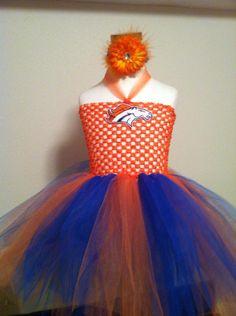 Denver Bronco's Inspired Tutu Halloween Costume.