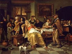 1668 - Twelfth Night - Jan Steen child not in stays or bodice