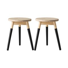 x 2 (sold in sets of 2 so need 4 total)- plywood top, black legs Fuel Juice Bar, Counter Stools, Bar Stools, Wood Stool, Dot And Bo, Modern Furniture, Modern Design, Mid Century, Room
