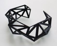 3D Printed Jewellery by Archetype Z studio combining architecture background with jewellery design. Love my white one of hers!