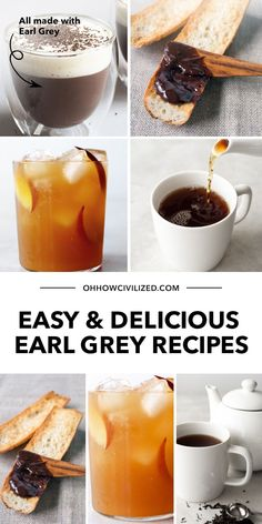 What I love about Earl Grey is that you can add so many delectable twists to it! If you're looking to vary your favorite tea drink, here are easy and delicious Earl Grey Recipes for you to try. Click to explore. Hot Tea Recipes, Drink Recipes, Homemade Iced Tea, Beverages, Drinks, Cocktails, Peach Ice Tea, English Breakfast Tea, Earl Grey Tea