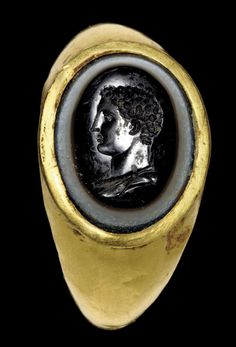 Ancient Romans, Ancient Art, Ancient Jewelry, Antique Jewelry, Byzantine Gold, Roman Jewelry, Classical Antiquity, Agate Ring, Historical Artifacts