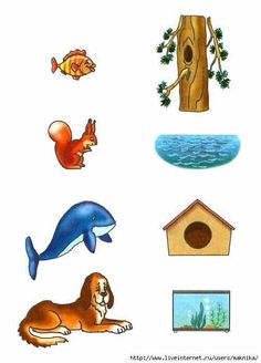 Kids Activity -Match Animals(Fish, Cat,dog, bird) with their Home. Preschool Learning Activities, Free Preschool, Toddler Activities, Preschool Activities, Kids Learning, Fun Worksheets For Kids, Kindergarten Worksheets, Animals And Their Homes, Farm Animals Preschool