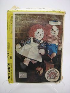 Raggedy Ann and Andy Pattern  Vintage McCall's by TooTooKute, $6.00