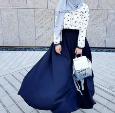 Look Your Best With These Tips On Fashion. Islamic Fashion, Muslim Fashion, Modest Fashion, Fashion Outfits, Modern Outfits, Colourful Outfits, Fancy Skirts, Hijab Trends, Hijab Fashion Inspiration
