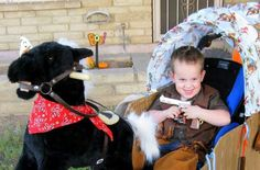 Cowboy Chuck wagon wheelchair costume Wheelchair Costumes, Chuck Wagon, Wheelchairs, Costume Makeup, Halloween Costumes For Kids, Trick Or Treat, Bobby, Costume Ideas, Magic