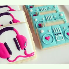 Musical Menagerie❥ Boombox Cookies