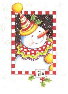 Christmas card - snowman by Mary Engelbreit