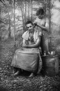 Barber, WWII, GI Haircut