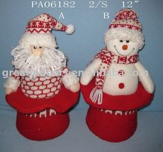 adornos navide os en tela - Buscar con Google Felt Crafts, Diy And Crafts, Christmas Crafts, Christmas Ornaments, Snowman, Santa, Easter, Dolls, Holiday Decor