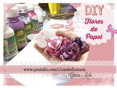1,2,3 testando...Flores de papel- Scrap Decor - YouTube