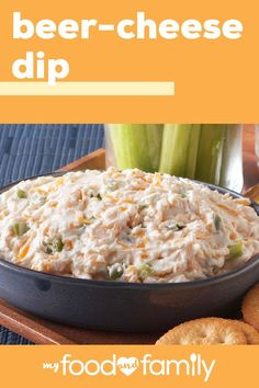 Beer-Cheese Dip We cant think of anything better than this ooey gooey delicious dip! Simply put this recipe together with 5 minutes of prep and combine PHILADELPHIA Cream Cheese KRAFT Classic Ranch Dressing green onions and Budweiser Beer. New Recipes, Cooking Recipes, Favorite Recipes, Healthy Recipes, Family Recipes, Yummy Appetizers, Appetizer Recipes, Dinner Recipes, Breakfast Recipes