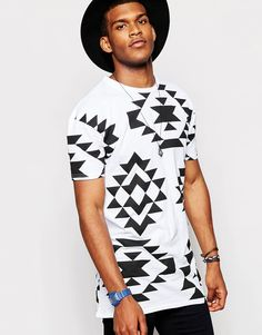 Image 1 of Jaded London Festival T-Shirt In Aztec Print
